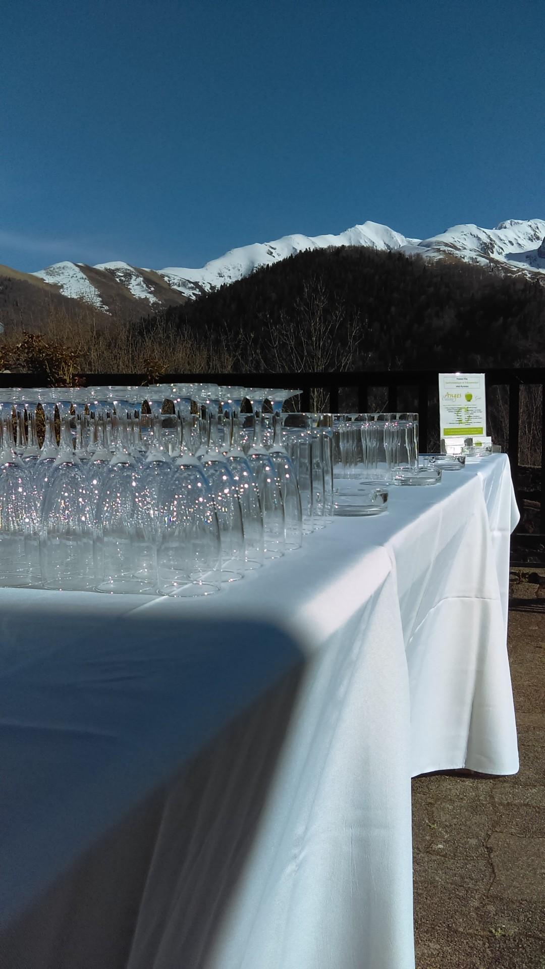Cocktail en montagne
